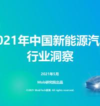 2021年中国新能源汽车行业洞察-Mob研究院